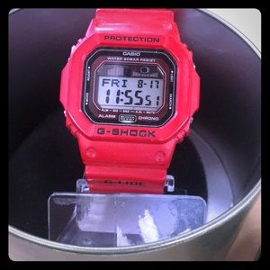 Water resistant red g shock